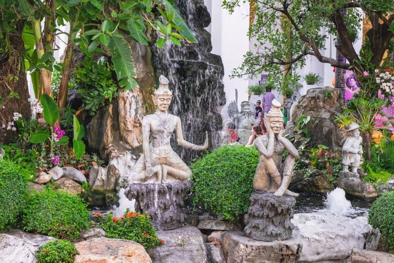 Templo de Wat Pho Buddhist em Banguecoque, Tailândia imagens de stock royalty free