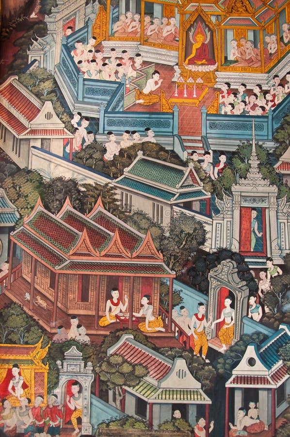 Templo de Wat Pho del Buddha de descanso imagenes de archivo