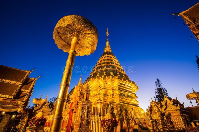 Templo de Wat Phra That Doi Suthep, Chiang Mai, Tailandia imagenes de archivo