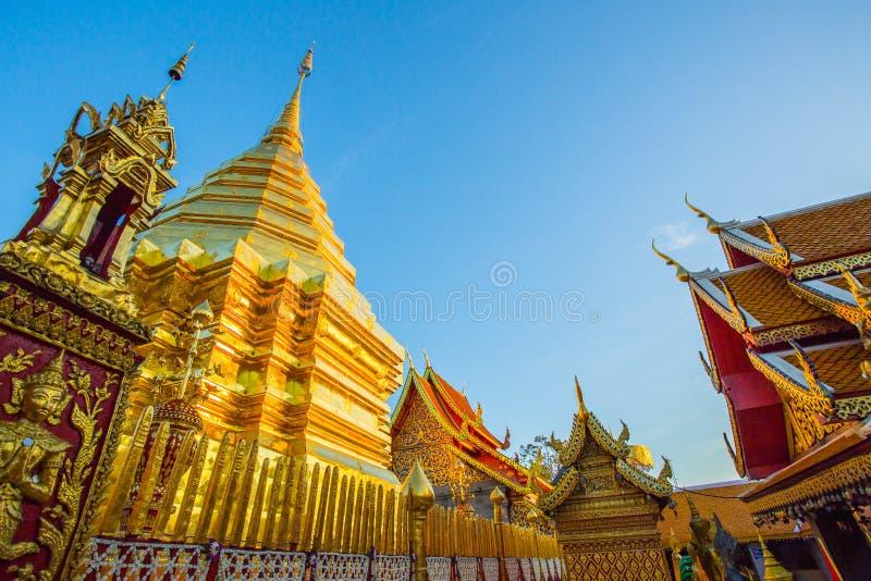 Templo de Wat Phra That Doi Suthep, Chiang Mai, Tailandia imagen de archivo libre de regalías