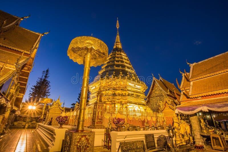 Templo de Wat Phra That Doi Suthep en Chiang Mai, Tailandia imágenes de archivo libres de regalías