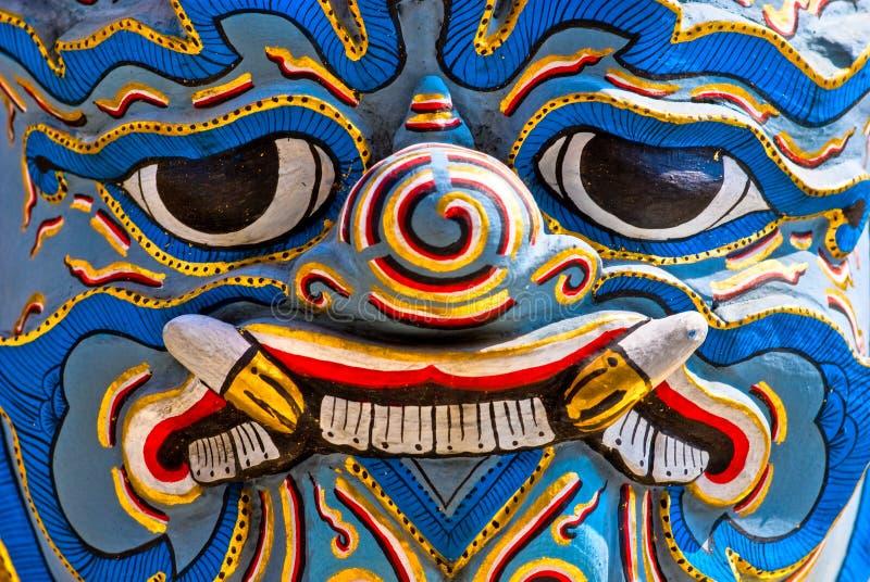 Templo de Wat Phra Kaeo, Banguecoque, Tailândia. imagem de stock