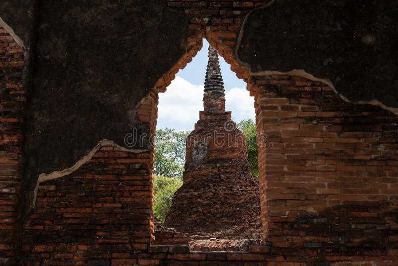 Templo de Wat Phra Si Sanphet en Ayutthaya fotografía de archivo