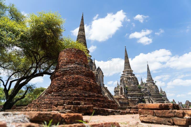 Templo de Wat Phra Si Sanphet en Ayutthaya imagen de archivo libre de regalías