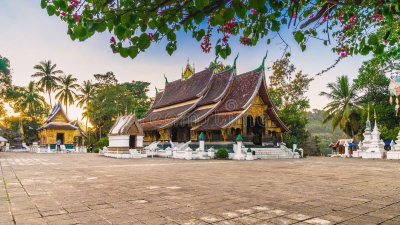 Templo de Wat Xieng Thong Golden City em Luang Prabang, Laos Xie fotografia de stock royalty free