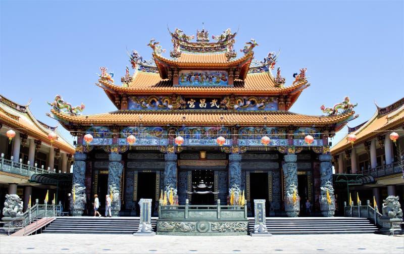 Templo de Wuchang en Jiji, Taiwán fotos de archivo libres de regalías