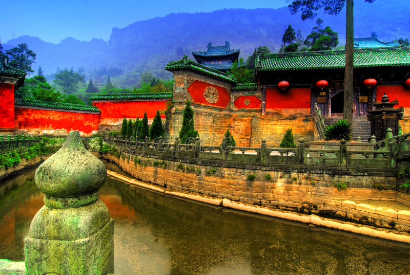 Templo de Wudang Shan imagens de stock