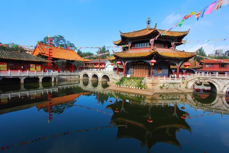 Templo de Yuantong Kunming fotos de archivo