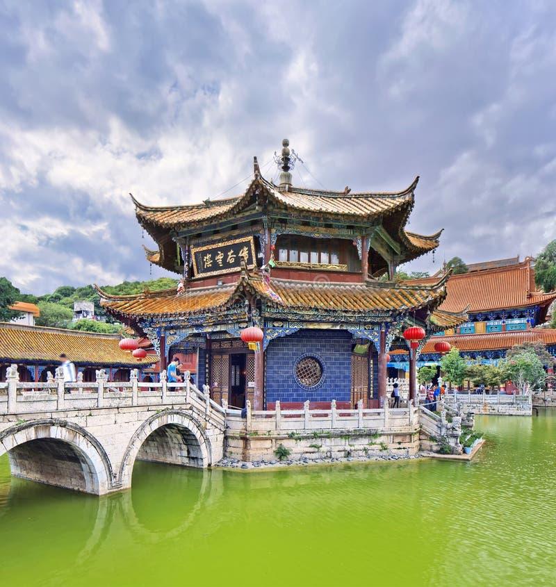 Templo de Yuantong, província de Kunming, Yunnan, China fotos de stock
