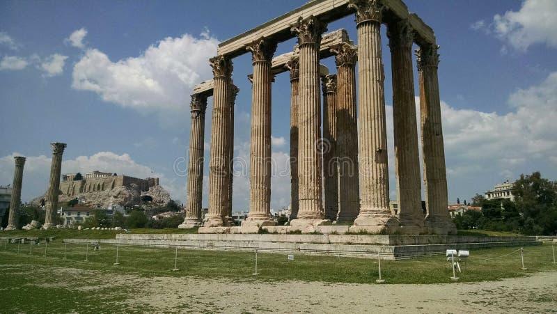 Templo de Zeus imagenes de archivo