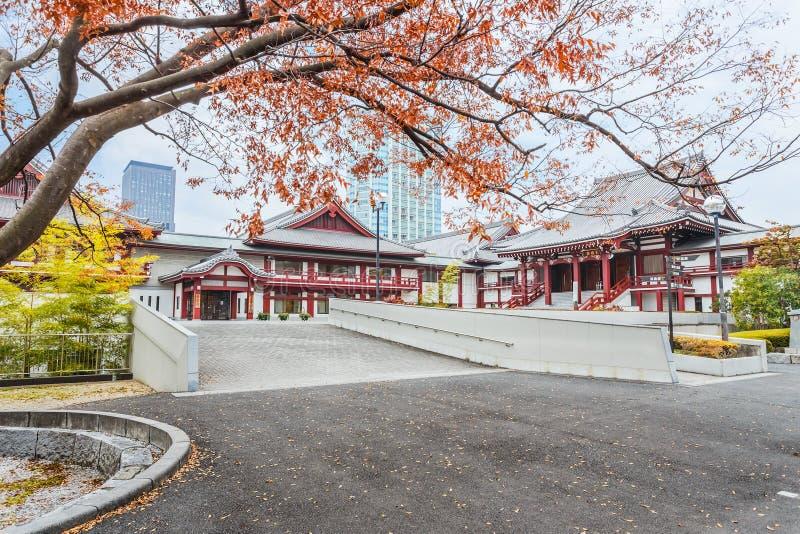 Templo de Zojoji no Tóquio imagem de stock royalty free