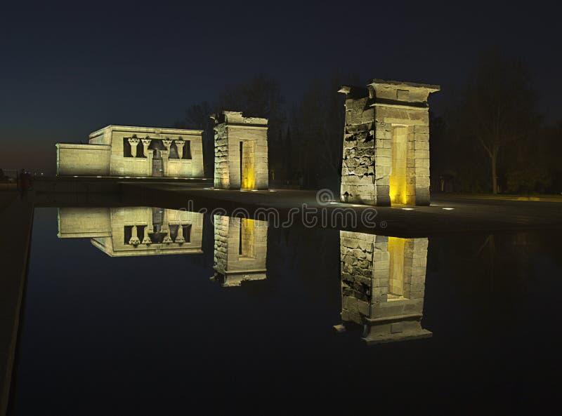 Templo debod arkivfoto