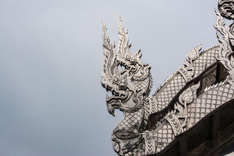 Templo del acero inoxidable en Ratchaburi Tailandia foto de archivo libre de regalías
