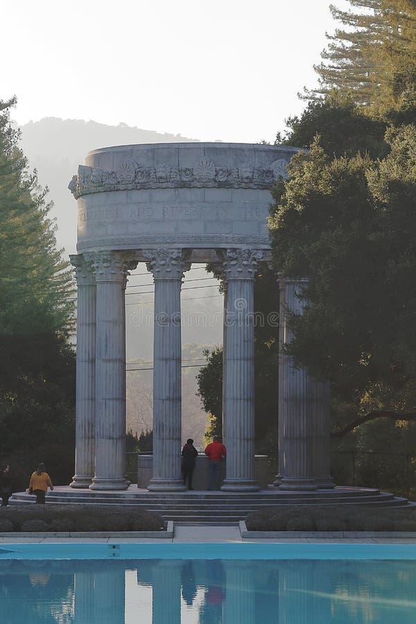 Templo del agua de Pulgas Woodside, California fotos de archivo