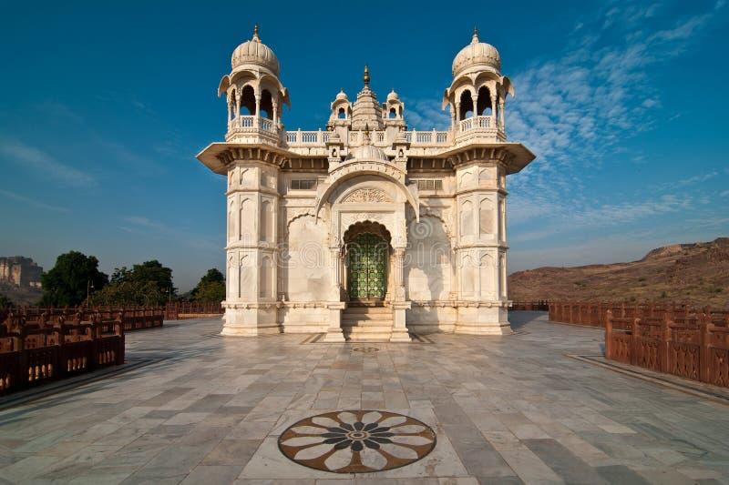Templo del blanco de Jaswant Thada foto de archivo libre de regalías