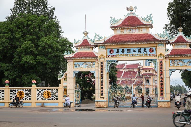 Templo del Cao Dai en Vietnam imagenes de archivo