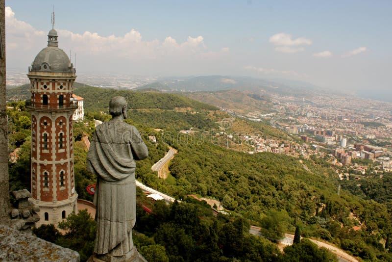 Templo del corazón sagrado en Barcelona imágenes de archivo libres de regalías