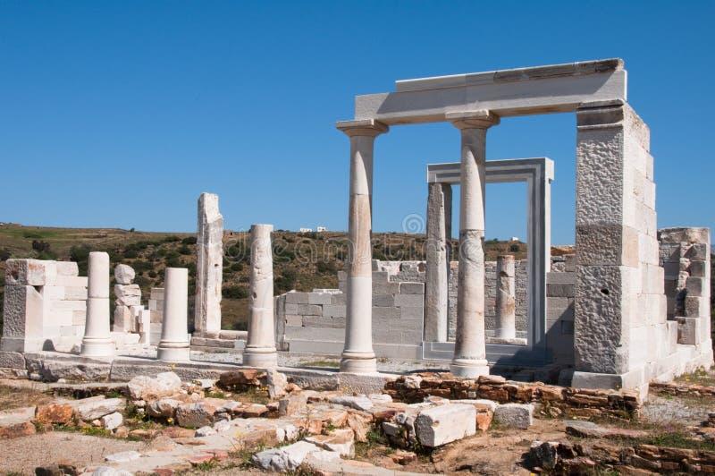 Templo del Demeter, isla de Naxos, Grecia imagen de archivo
