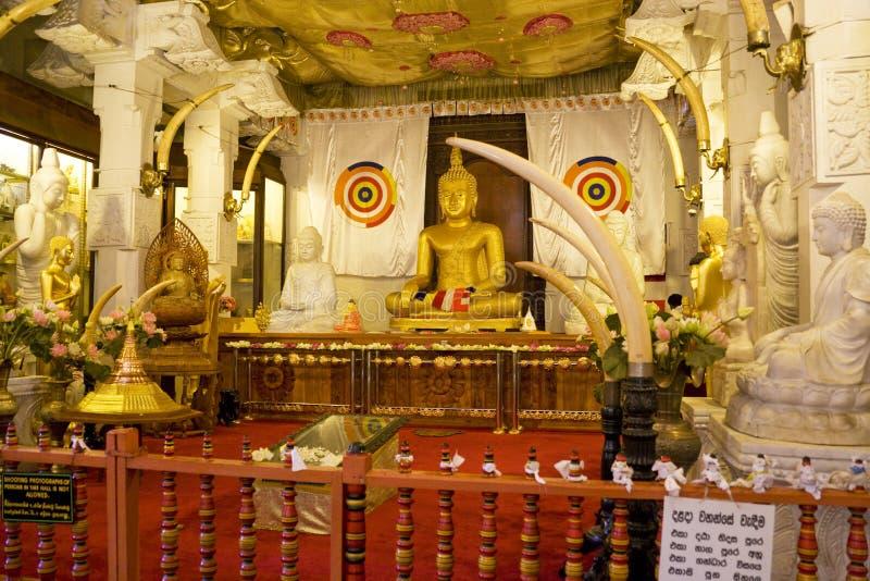 Templo del diente, Kandy, Sri Lanka fotografía de archivo