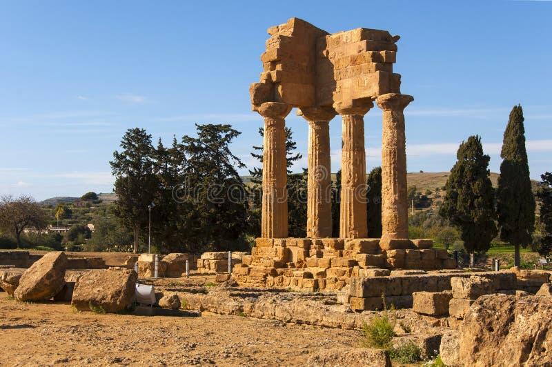Templo del Dioscuri foto de archivo libre de regalías