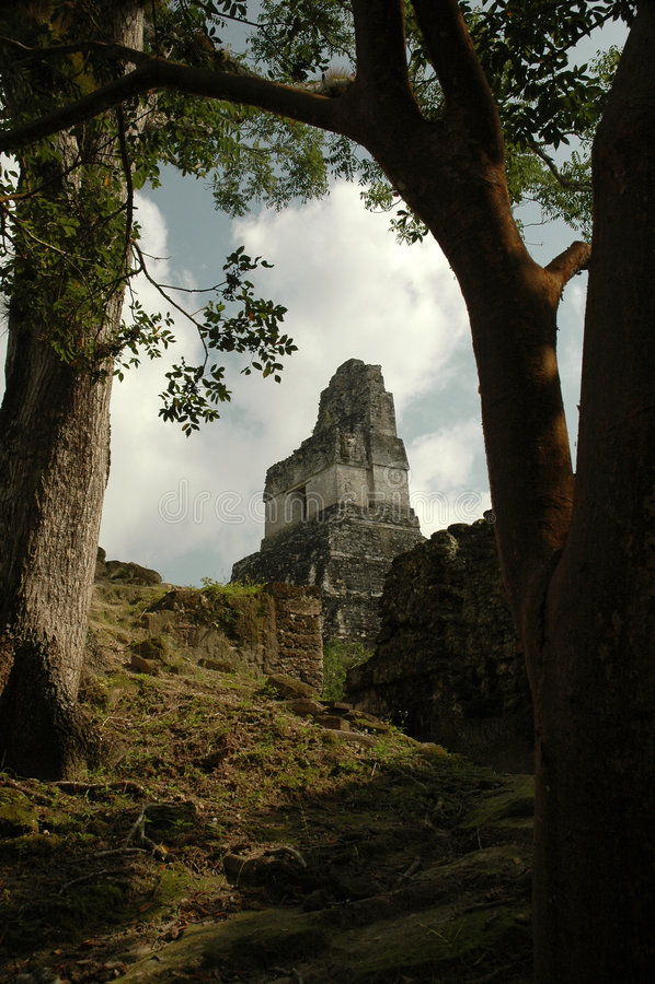Templo del jaguar fotografía de archivo libre de regalías