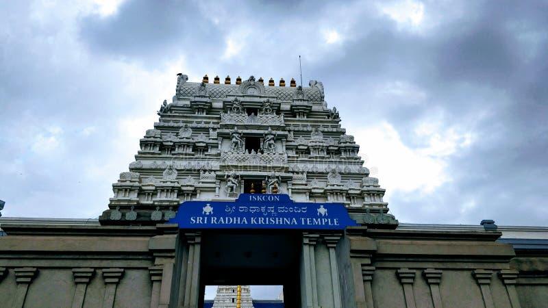 Templo del krishna del radha de Sri fotos de archivo