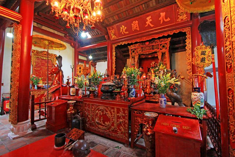 Templo del lago jade Mountain In Hoan Kiem, Hanoi Vietnam imagenes de archivo