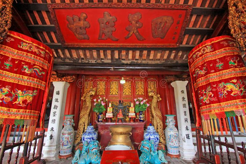 Templo del lago jade Mountain In Hoan Kiem, Hanoi Vietnam imagen de archivo