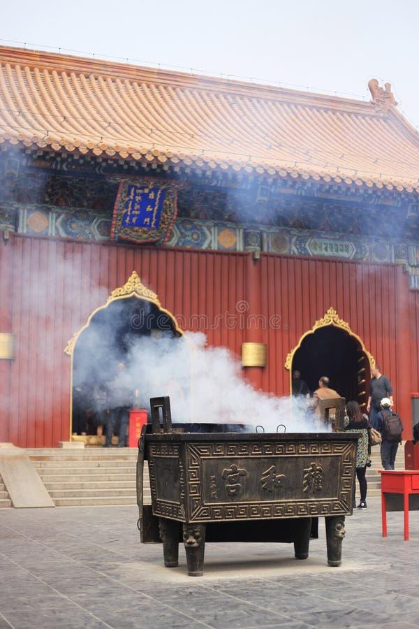 Templo del lama en Pekín fotografía de archivo