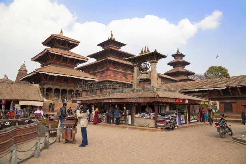 Templo del Nepali de Patan fotos de archivo