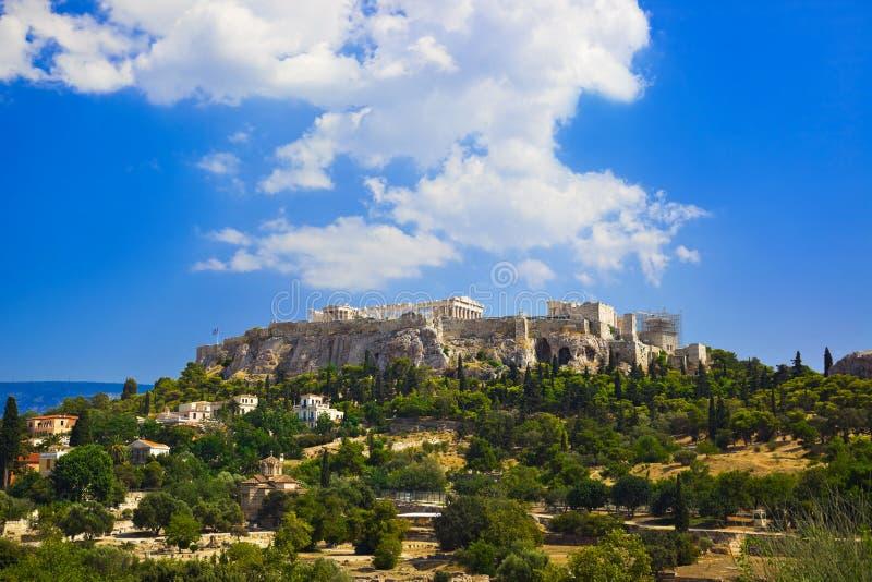 Templo del Parthenon en acrópolis en Atenas, Grecia fotos de archivo