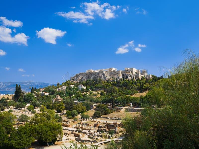 Templo del Parthenon en acrópolis en Atenas, Grecia foto de archivo libre de regalías