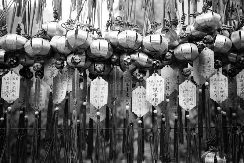 Templo del pecado de Wong Tai en Hong-Kong imagen de archivo