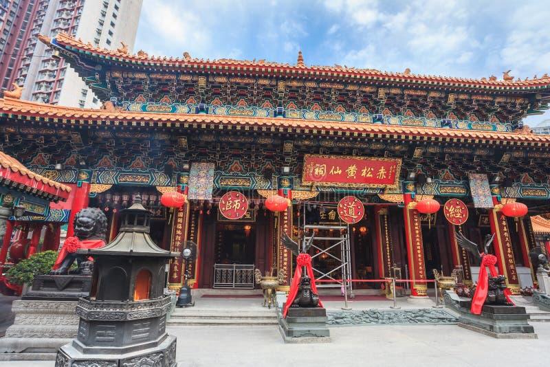 Templo del pecado de Wong Tai, Hong-Kong fotos de archivo