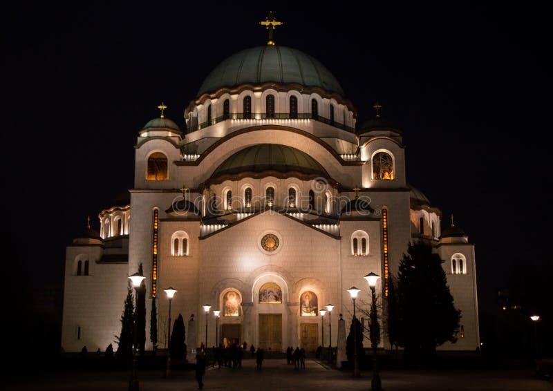 Templo del ` s del St Sava imagen de archivo