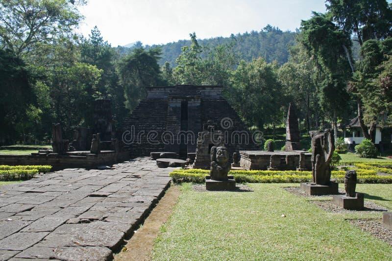 Templo del sukuh de Candi imagen de archivo libre de regalías