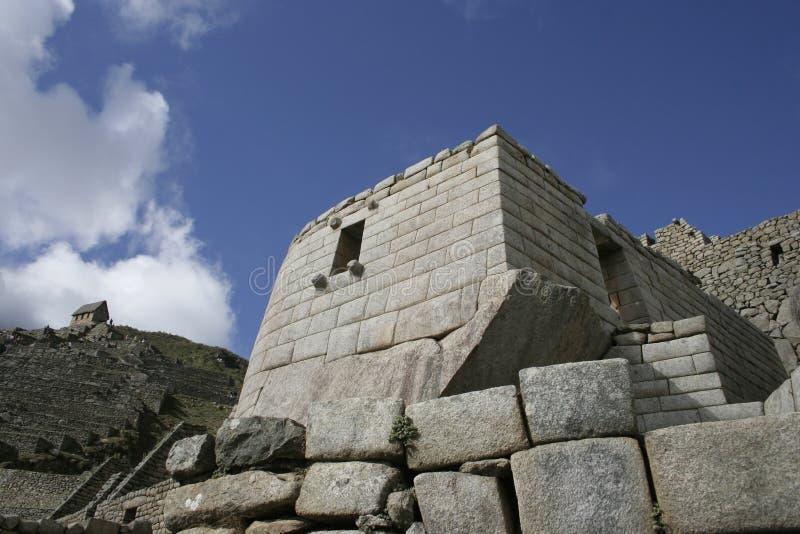 Templo del Sun, Perú de Machu Picchu foto de archivo