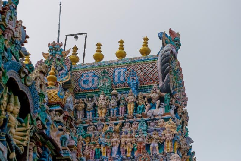 Templo del sur de la India Madurai Thiruparankundram Murugan foto de archivo libre de regalías
