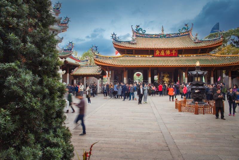 Templo del sur de Putuo en Xiamen de China imagenes de archivo