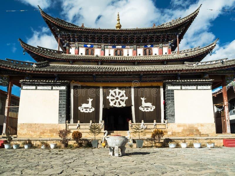 Templo del tibetano de la arquitectura imagen de archivo
