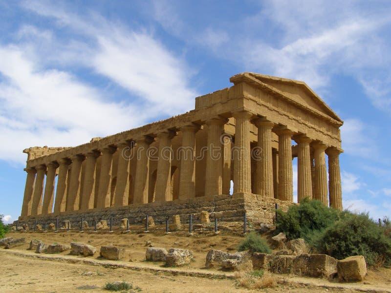 Templo del valle de Concordia de los templos Agrigento Sicilia Italia foto de archivo libre de regalías