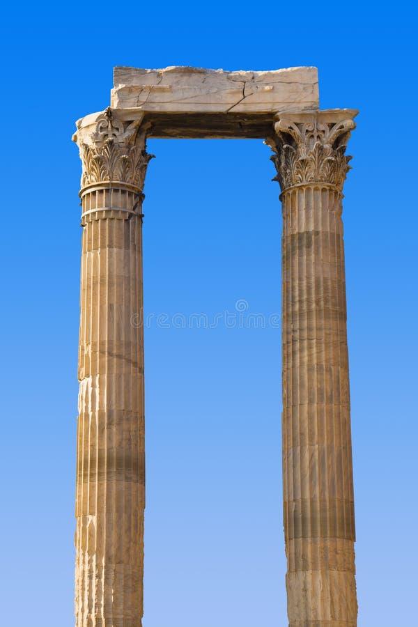 Templo del Zeus en Atenas, Grecia imagen de archivo