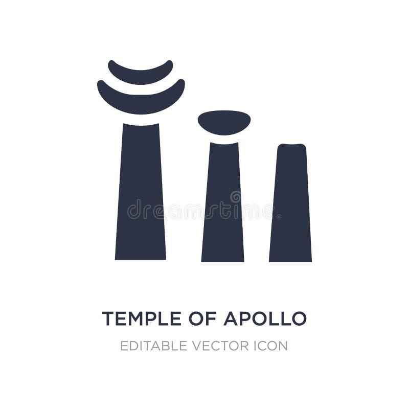templo do ícone de Apollo no fundo branco Ilustração simples do elemento do conceito dos monumentos ilustração stock