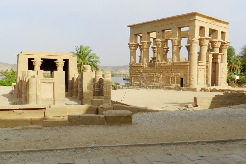 Templo do arquivo em Assuan, Egito fotografia de stock royalty free