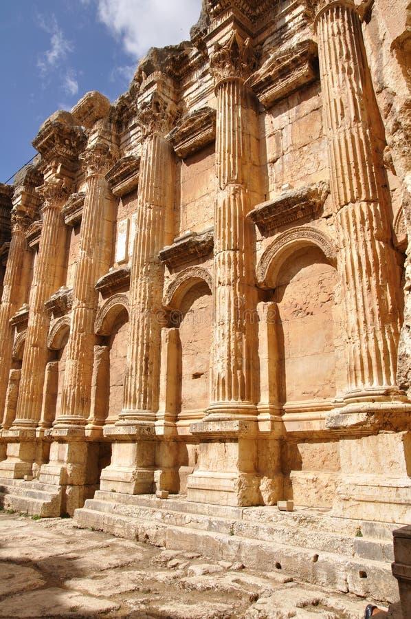 Templo do baahus de Baalbek; Líbano foto de stock