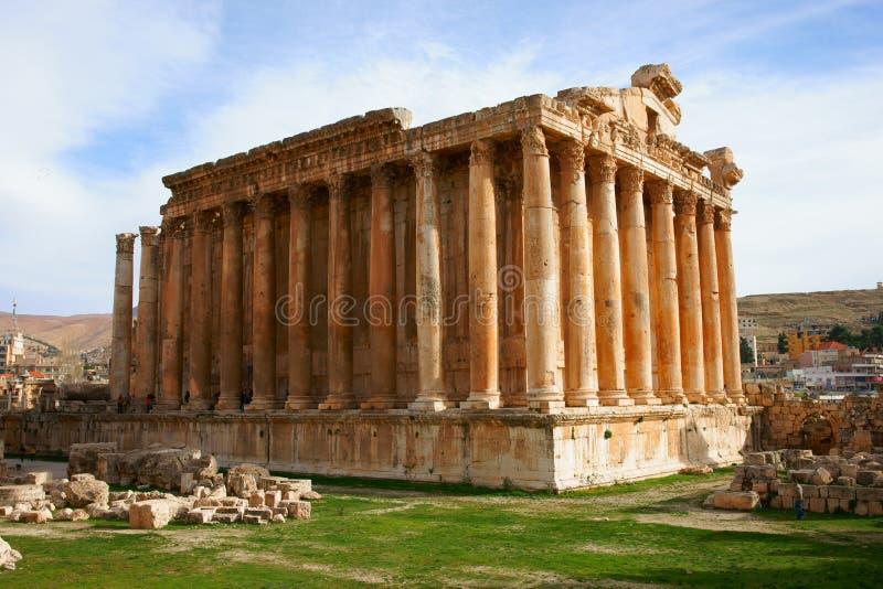 Templo do Bacchus fotografia de stock