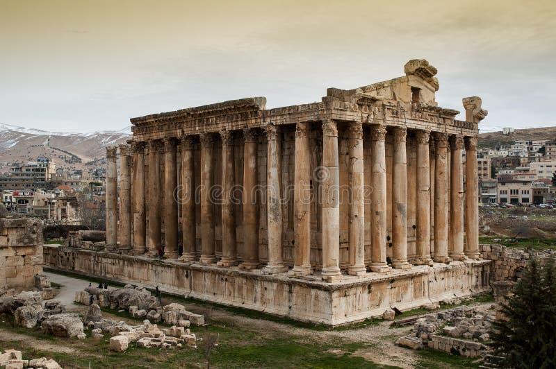 Templo do Bacchus, Baalbek fotografia de stock royalty free