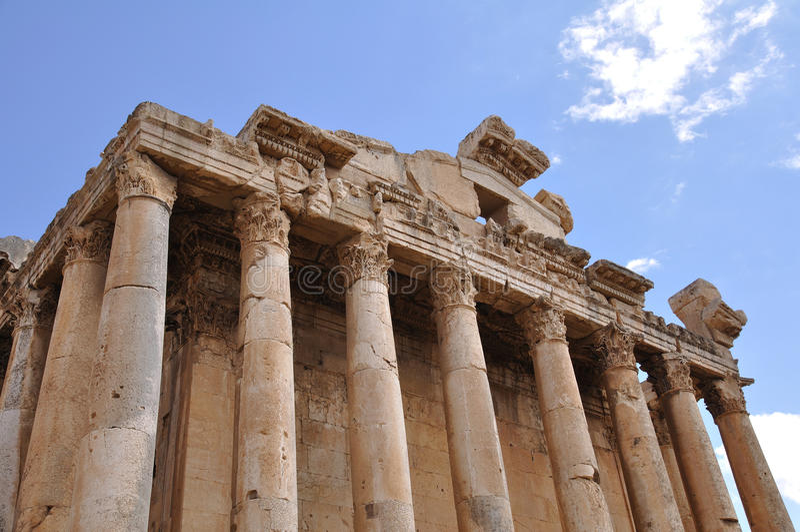 Templo do Bacchus em Baalbek, Líbano imagem de stock royalty free