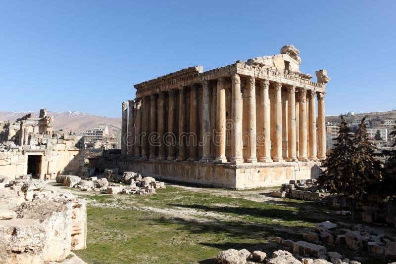 Templo do Baco imagens de stock
