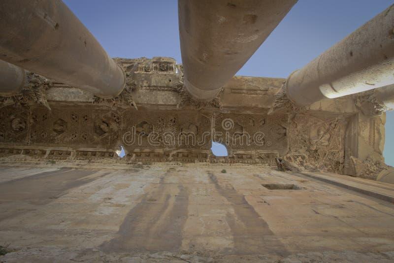 Templo do Baco, Baalbek Líbano imagem de stock royalty free